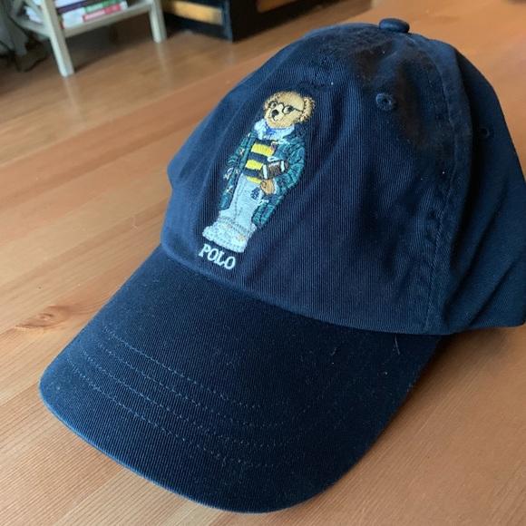 0240d2d6 Polo Bear Baseball Hat Ralph Lauren Navy Blue. M_5cbe59dd8d6f1acc82ecd1bc.  Other Accessories ...